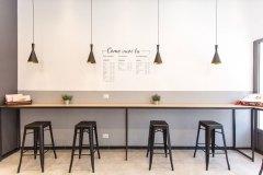 progetto pizzeria, design luci ed interior
